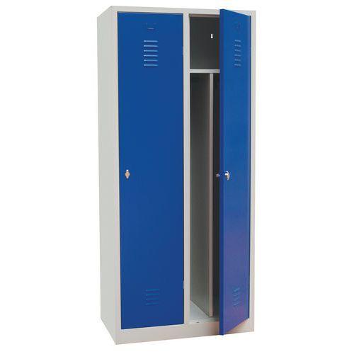 Vestiaire industrie salissante - À clé - Largeur 400 mm - Sur socle - Manutan