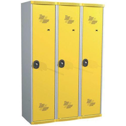 Vestiaire 3 colonnes Seamline Optimum® - Colonne largeur 400 mm