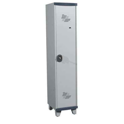 Spind Seamline Optimum® mit 1 Säule - Säulenbreite 400mm - mit Füßen