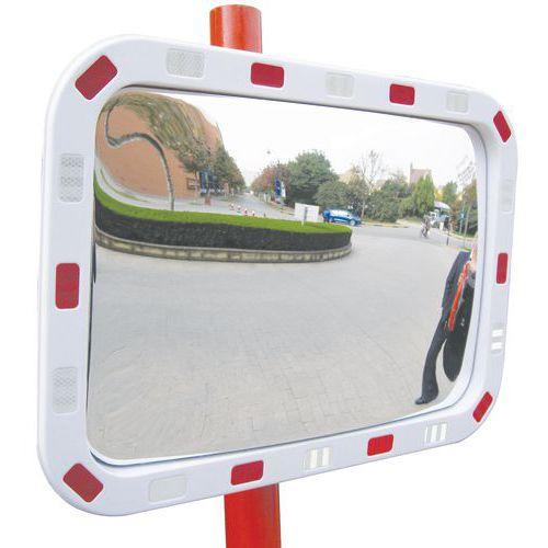 Miroir de sécurité rectangle - Voie privée - Vision 90° - Manutan