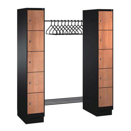 vestiaire 6 10 cases bois penderie penderie largeur 1150 mm manutan. Black Bedroom Furniture Sets. Home Design Ideas
