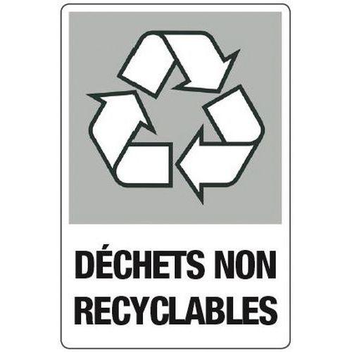 tiquettes adh sives pour tri s lectif d chets non recyclables manutan. Black Bedroom Furniture Sets. Home Design Ideas