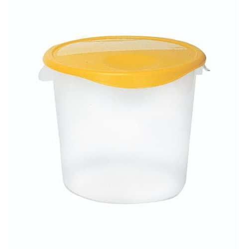 Pot plastique de stockage rond