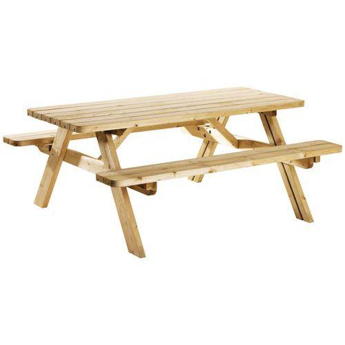 Table de pique-nique repliable éco - Pin
