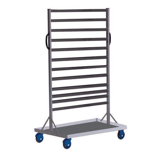 Etagenwagen aus Stahl mit Sichtboxen - Länge 880 mm