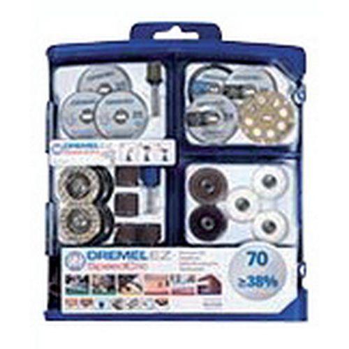 Kit accessoires multi-usages pour Dremel - 70 pièces