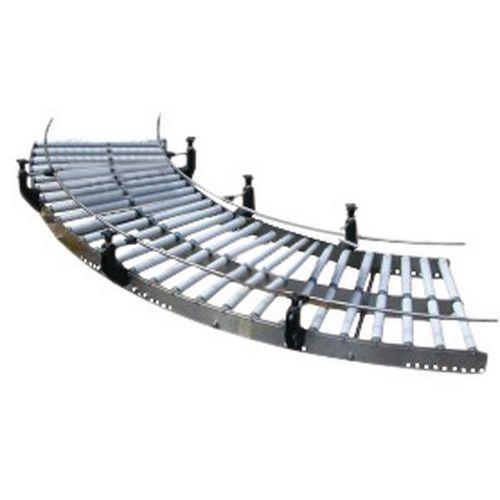 Courbe de convoyeur gravitaire inox à rouleaux PVC - Somefi