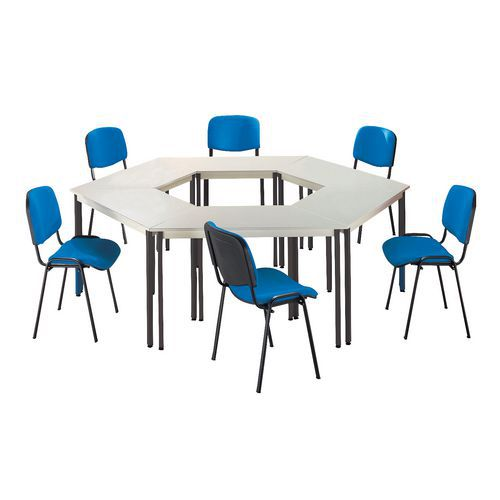 Ensemble de table de r union 6 tables et 6 chaises manutan - Ensemble table et 6 chaises ...