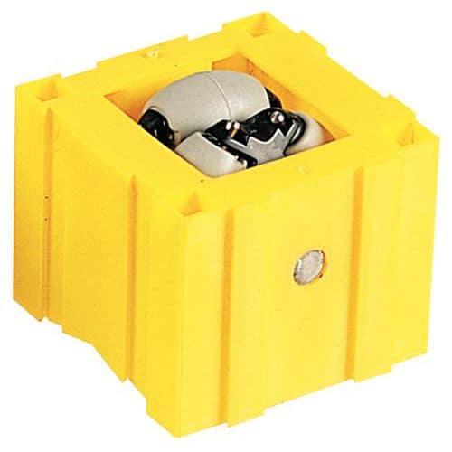 Cube à galets - Fixation par vis ou clous