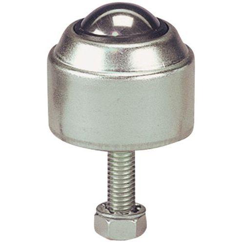 Kugelrolle aus Stahl - Befestigung per Gewindestift mit Sockel