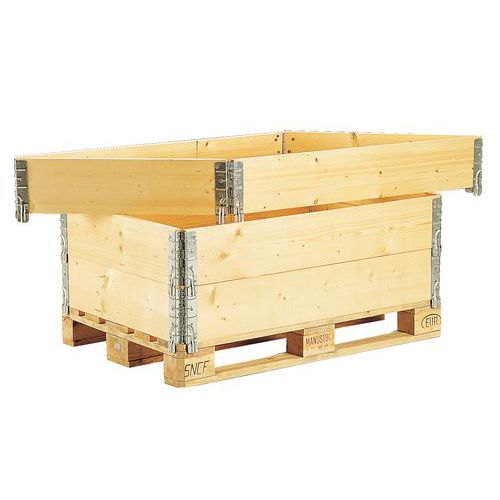 Rehausse palette bois ISPM 15 Pliante 600 x 400 mm Manutan # Rehausse Palette Bois