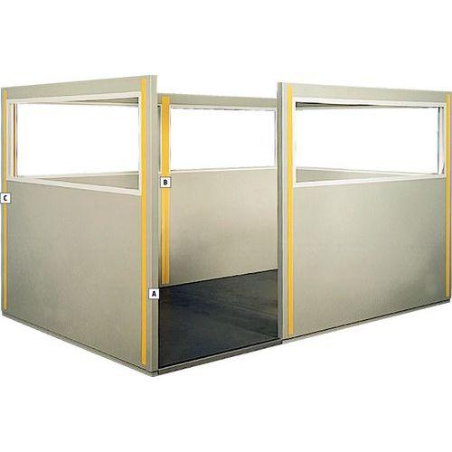pfosten f r doppelwandige trennw nde stahlblech manutan schweiz. Black Bedroom Furniture Sets. Home Design Ideas