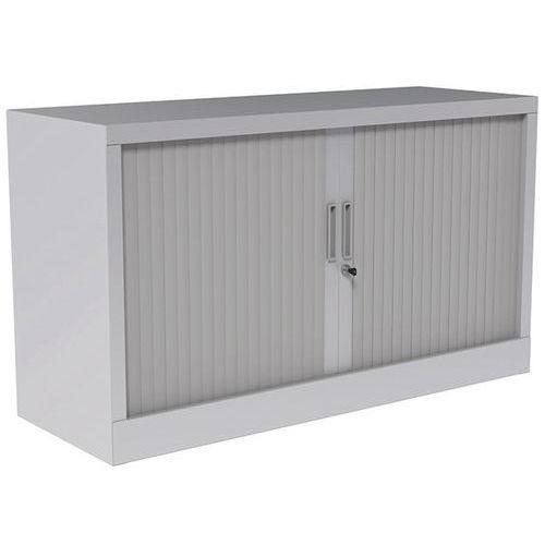 armoire rideaux avec plateau sup rieur gris clair. Black Bedroom Furniture Sets. Home Design Ideas
