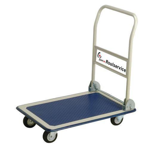 Chariot acier avec dossier rabattable - Capacité 150 kg