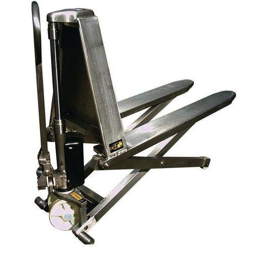 Transpalette manuel inox haute levée - Capacité 1000kg