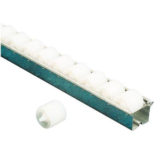 Rail à galets plastique - Longueur 2000 mm