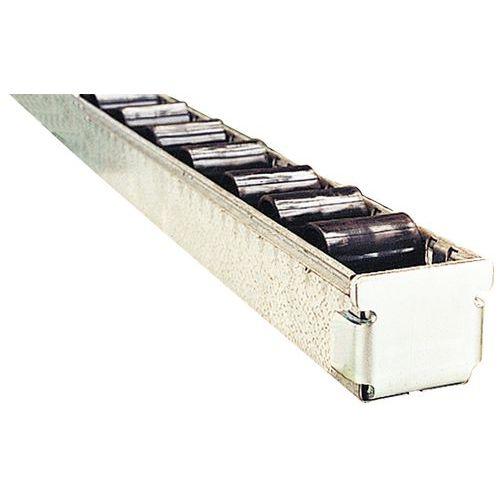 Butée d'extrémité pour rails à rouleaux plastique