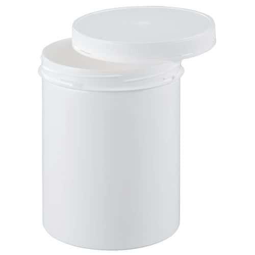 Pot plastique à couvercle vissant et inviolable