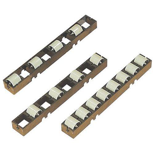 Rails à galets plastique - Lot de 10 rails - Longueur 272 mm