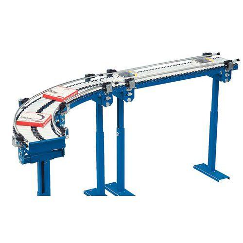 Microtransporteur gravitaire - À rouleaux PVC Ø 20 mm longueur 150 mm