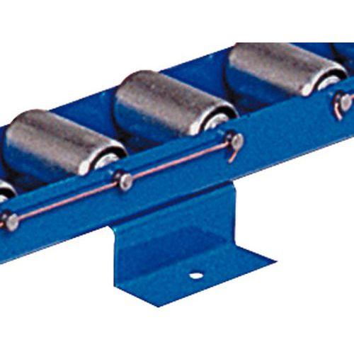 Stützen für Leisten mit Stahlrollen