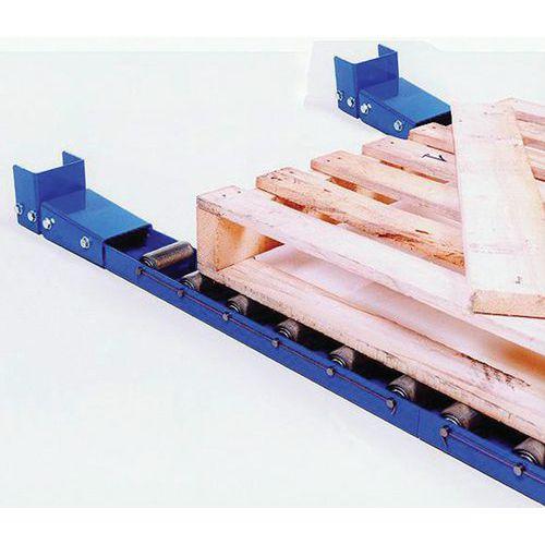 Rail à rouleaux acier - Longueur 1000 mm