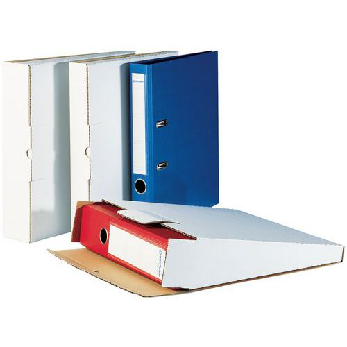 versandkarton f r ordner wei manutan schweiz. Black Bedroom Furniture Sets. Home Design Ideas