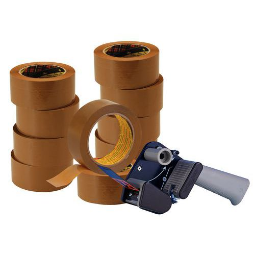 Offre spéciale 3M : 10 rouleaux adhésifs Hot Melt 3739 + 1 dévidoir silencieux H150
