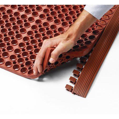 Bordure de sécurité pour caillebotis modulable en tapis