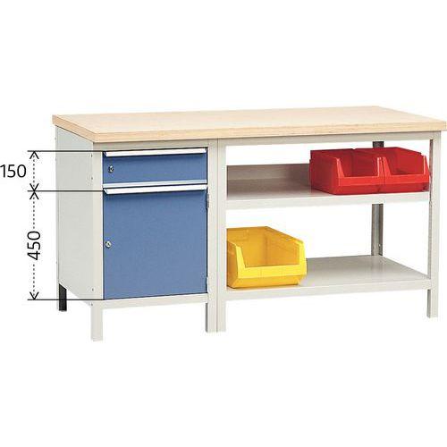 werkbank komplett modul 152 mit schrank und schublade manutan sc. Black Bedroom Furniture Sets. Home Design Ideas