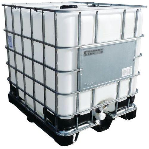 Transportbehälter Unicube, Standardzulassung - Tank + Metall-Kunststoffpalette