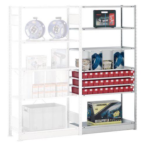 regal easy fix anbauelement tiefe 500 mm verzinkt. Black Bedroom Furniture Sets. Home Design Ideas