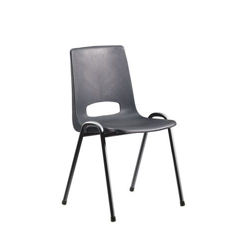 chaise coque plastique anthracite - Chaise Coque