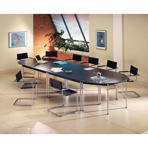 Table de r union modulaire confort demi cercle manutan - Table demi cercle ...