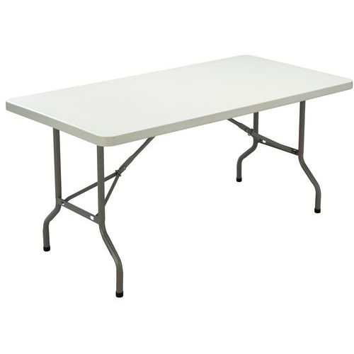 Table pliante rectangle poly thyl ne pi tement tubulaire man - Pietement pour table pliante ...