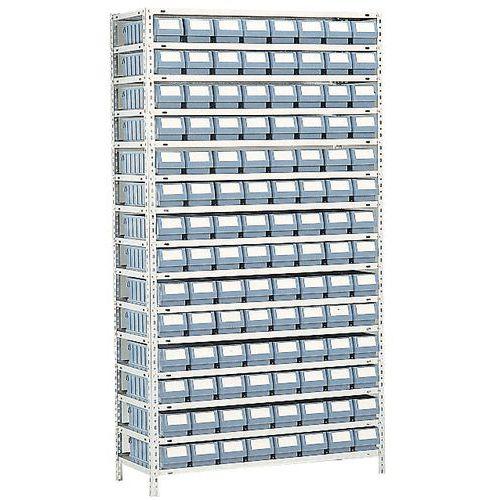 rayonnage avec bacs tiroirs s rie rk profondeur 400 mm manutan. Black Bedroom Furniture Sets. Home Design Ideas