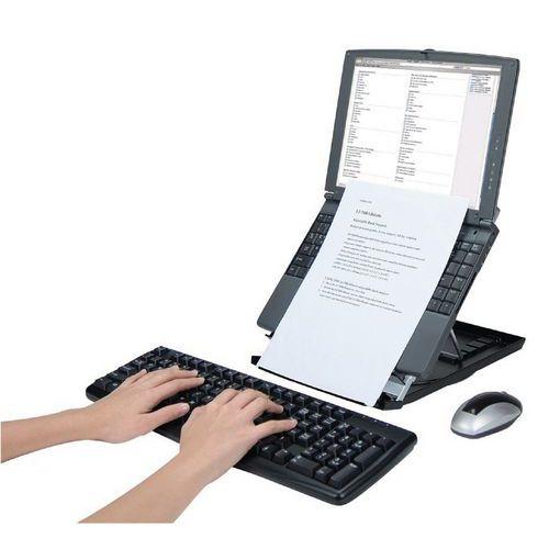 laptop st nder desq mit dokumentenhalter manutan schweiz. Black Bedroom Furniture Sets. Home Design Ideas