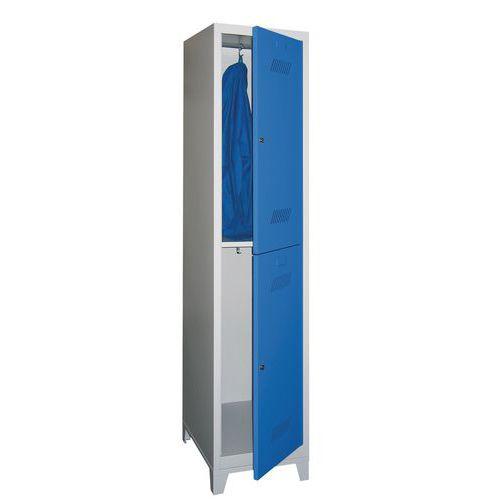 vestiaire 2 cases penderie m dium 1 colonne largeur 400 mm s. Black Bedroom Furniture Sets. Home Design Ideas