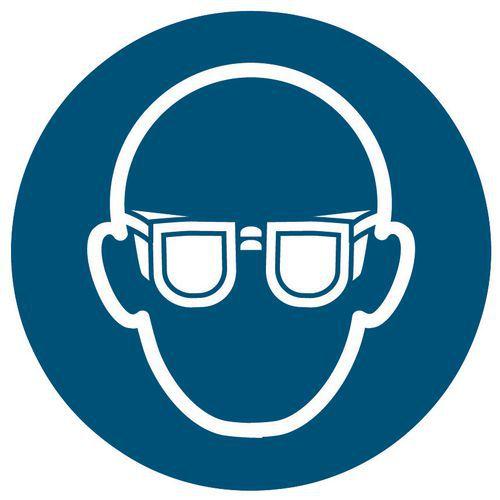 Panneau d obligation - Port de lunettes de sécurité obligatoire - Rigide 64c98f483a4b