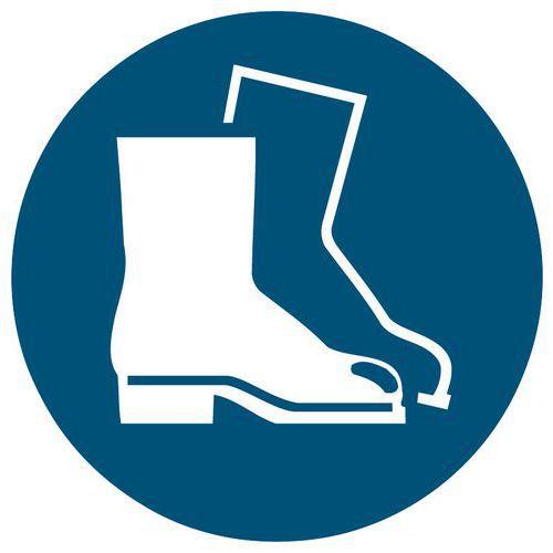 Panneau d obligation - Port de chaussures de sécurité obligatoire - Rigide 1a2611125c5b