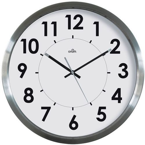 Horloge basique inox