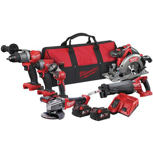 Pack 6 outils FUEL 18V - Milwaukee