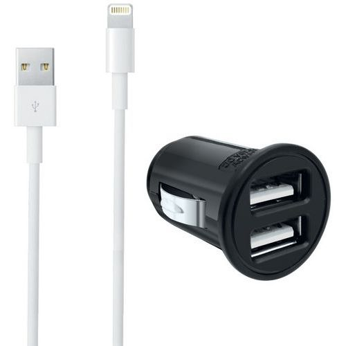 Chargeur allume-cigare USB + câble lightning Iphone - Moxie