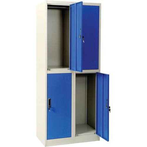 Vestiaire multicases Bleu - Manutan