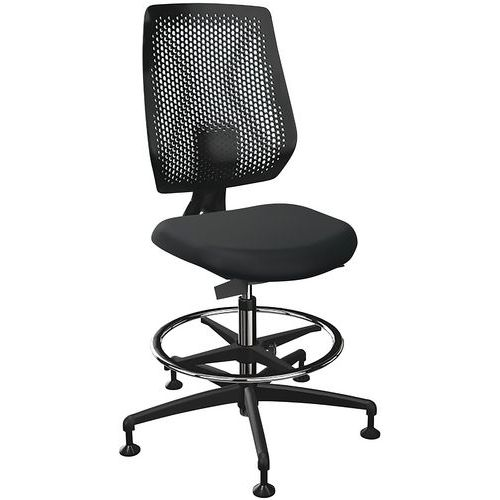 Chaise haute en tissu avec patins Speed-O 7619