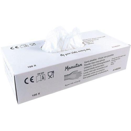 Gants jetable vinyle poudrés - Manutan
